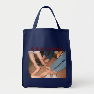 C A U T I O N ! Foot Locker Bag. Tote Bag