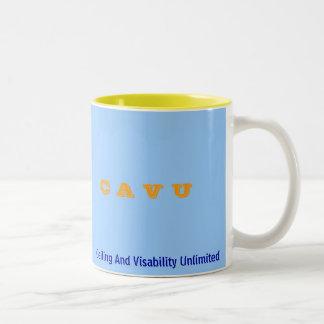 C A V U, Ceiling And Visability Unlimited Two-Tone Coffee Mug