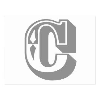 """C"" Alphabet Letter Tee Postcard"