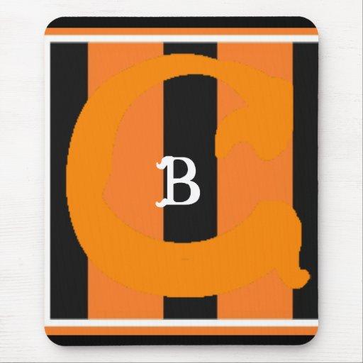 C B Mousepad con monograma (vertical) Alfombrillas De Raton