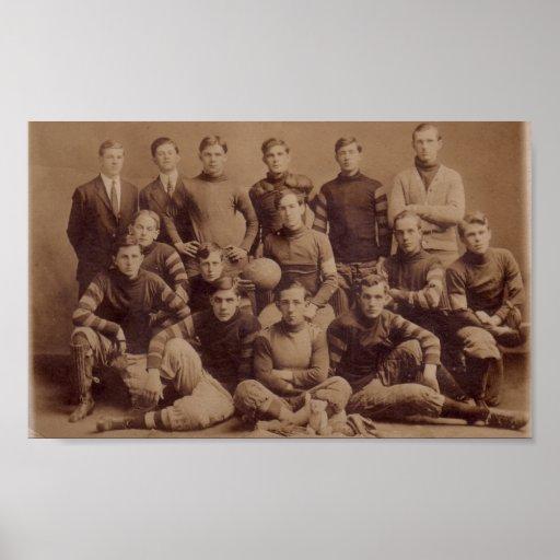 C.B.S. 1908 Football Poster