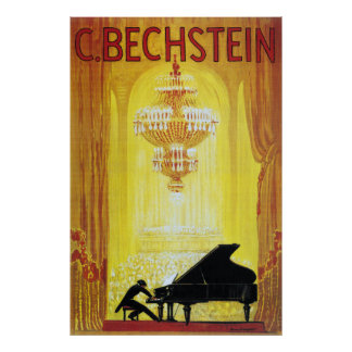 C. Bechstein Vintage Piano Advertisement Poster