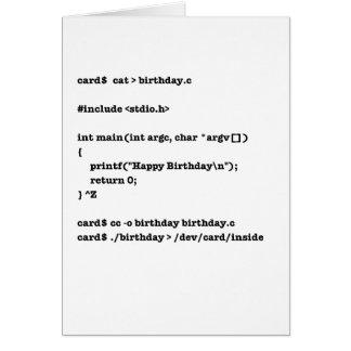 C Birthday Card