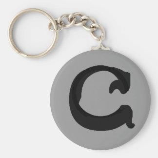 C (Black) Keychain