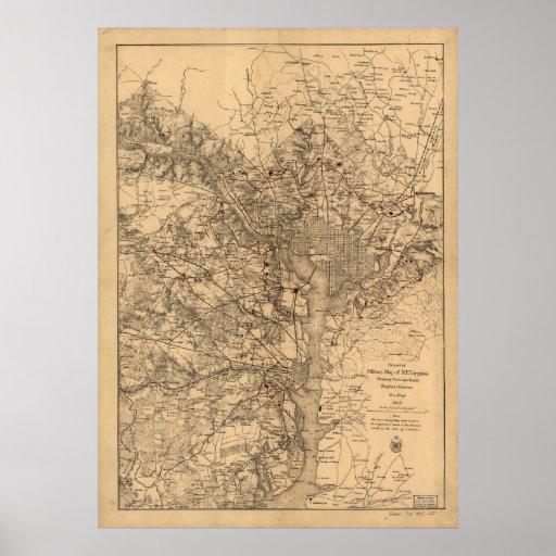 C.C. de Washington - 1865 Póster