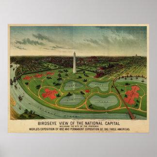 C.C. de Washington, 1892 (E. Johnson) BigMapBlog.c Póster