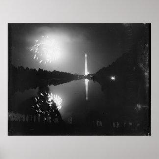 C.C. de Washington; 5 de julio de 1939, fuegos art Póster