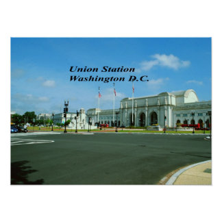 C.C. de Washington de la estación de la unión Póster