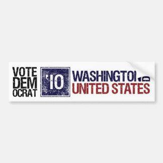 C.C. de Washington del vintage de Demócrata del vo Etiqueta De Parachoque
