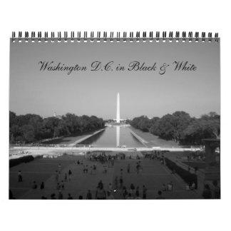 C.C. de Washington en negro y blanco Calendario