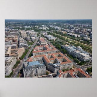 C.C. federal de Washington del triángulo Póster