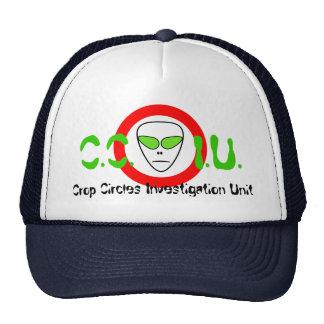 C.C.I.U. Crop Circles Investigation Unit Alien UFO Mesh Hats