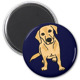 C C imán amarillo de Labrador