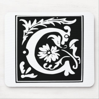 C-C Letter Come and have fun joy peace Mouse Pad