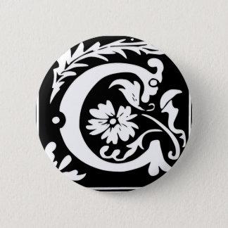 C-C Letter Come and have fun joy peace Pinback Button