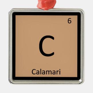 C - Calamari Squid Appetizer Chemistry Symbol Ornaments
