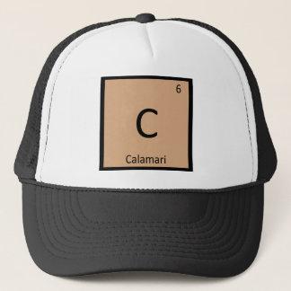 C - Calamari Squid Appetizer Chemistry Symbol Trucker Hat