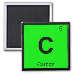 C - Carbon Chemistry Periodic Table Symbol 2 Inch Square Magnet