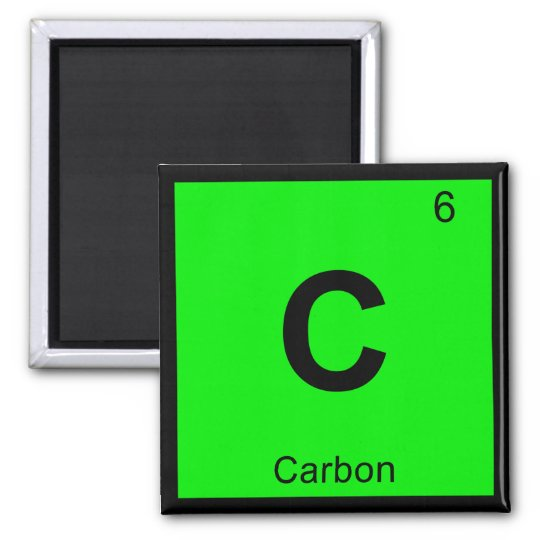 c carbon chemistry periodic table symbol magnet zazzlecom