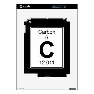 C - Carbono Calcomanías Para iPad 2