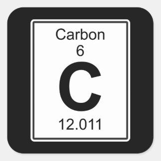 C - Carbono Pegatina Cuadrada