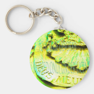 (c) Carrie Devorah MAY BE USED UNDER LICENSE (cc). Basic Round Button Keychain