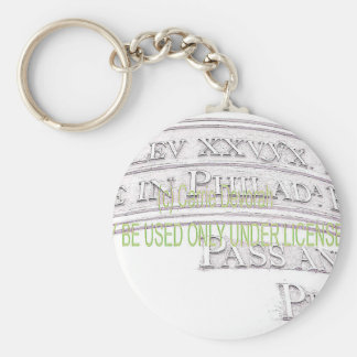 (c) Carrie Devorah MAY BE USED UNDER LICENSE (ff). Basic Round Button Keychain