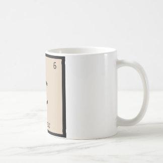 C - Cashew Nut Chemistry Periodic Table Symbol Coffee Mug