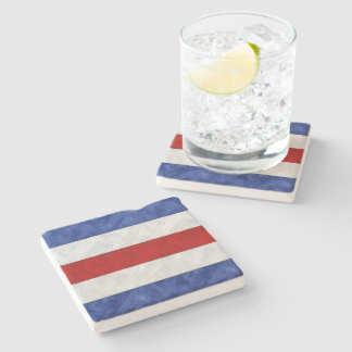 C Charlie Watercolor Nautical Signal Maritime Flag Stone Coaster