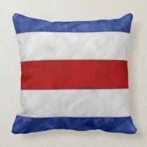 C Charlie Watercolor Nautical Signal Maritime Flag Throw Pillow