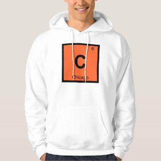 C - Chicago Illinois City Chemistry Periodic Table Hoodie