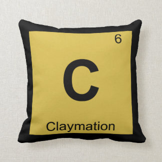 C - Claymation Animation Chemistry Periodic Table Pillows