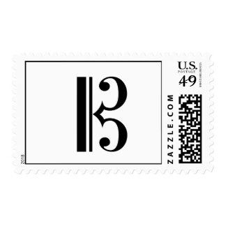C-Clef Postage Stamp