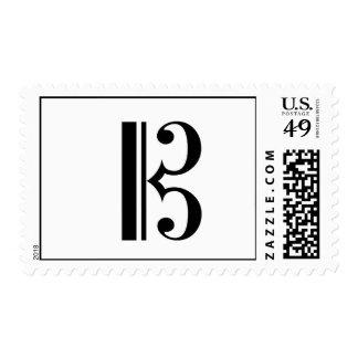 C-Clef Postage Stamp