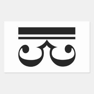 C-Clef Rectangular Sticker
