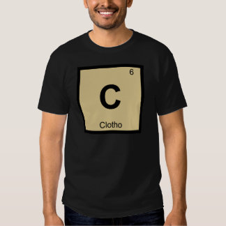 C - Clotho Fates Chemistry Periodic Table Symbol Tees