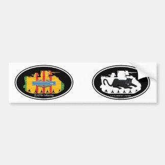 C Co. 2/47th Inf. M113 CIB Tracks Euro-Oval Pair Car Bumper Sticker