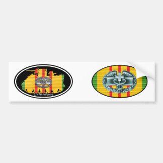C Co. 2/47th Inf. M113 CMB Tracks Euro-Oval Pair Bumper Sticker