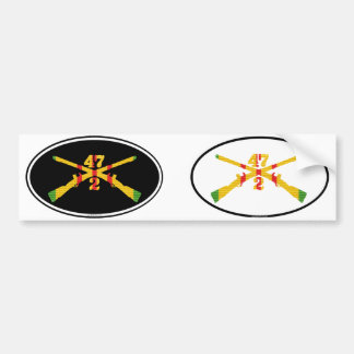 C Co. 2/47th Inf. VSM Crossed Rifles Oval Pair Bumper Stickers