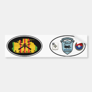 C Co. 2/47th Inf. VSM Track & Patches Oval Pair Car Bumper Sticker