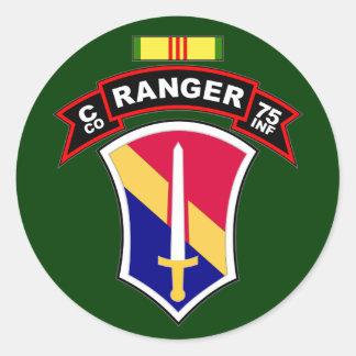 C Co, 75th Infantry Regiment - Rangers, Vietnam Classic Round Sticker