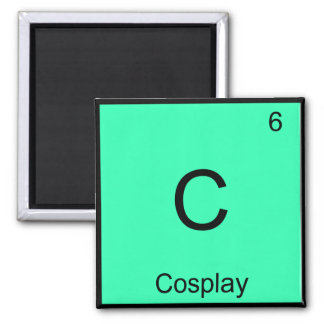 C - Cosplay Chemistry Element Symbol Costume Tee 2 Inch Square Magnet