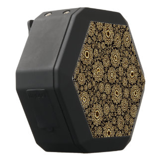 (c) de oro floral trippy altavoces bluetooth negros boombot REX