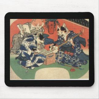 C. de pintura japonesa 1800's mouse pad