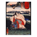 C. de pintura japonesa 1800's postal