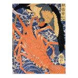 C. de pintura japonesa 1800's postales
