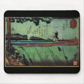 C. de pintura japonesa 1800's tapetes de ratones