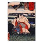 C. de pintura japonesa 1800's tarjeta