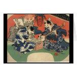 C. de pintura japonesa 1800's tarjetas