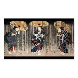 C. de pintura japonesa 1800's tarjetas de negocios